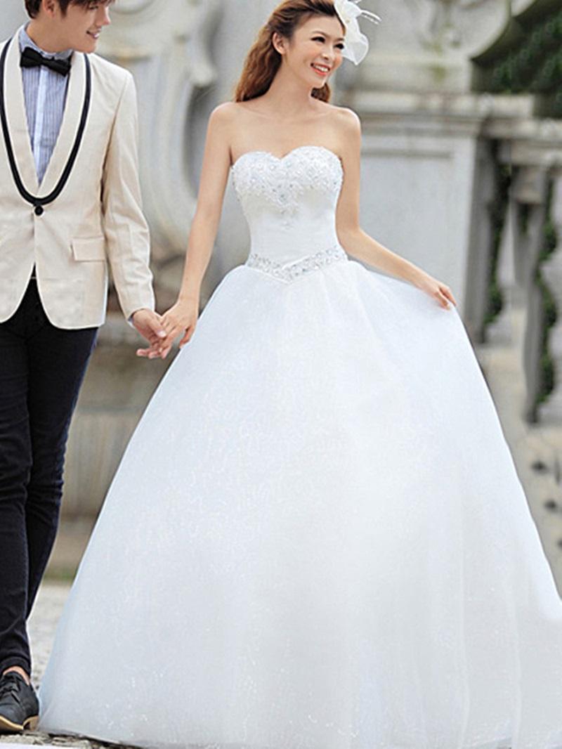 Ericdress Sweetheart Beading Appliques Ball Gown Wedding Dress