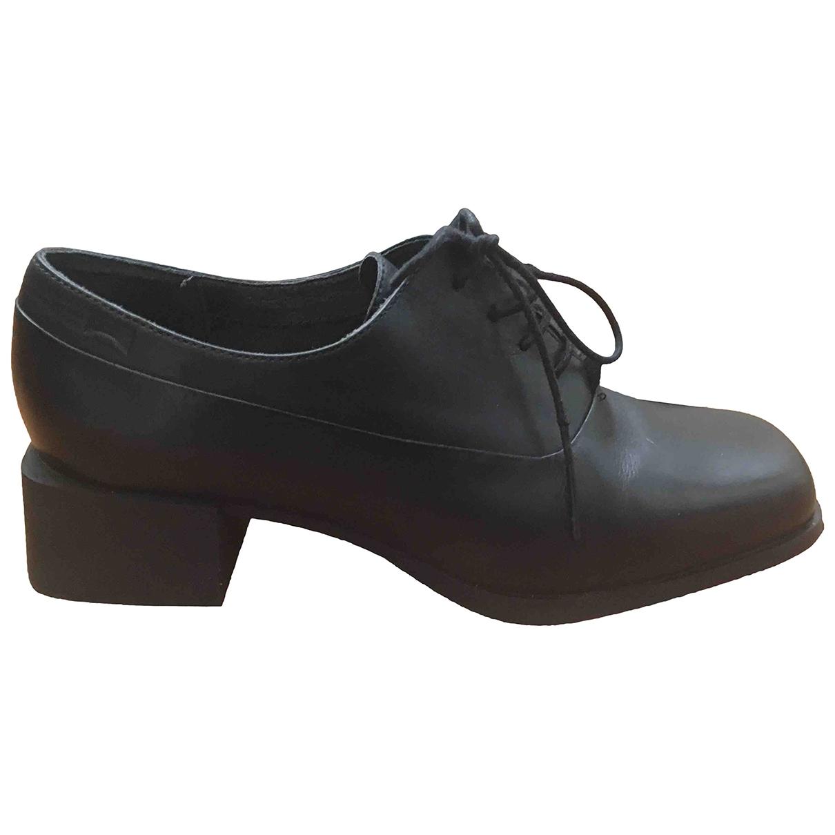 Camper \N Black Leather Lace ups for Women 38 EU