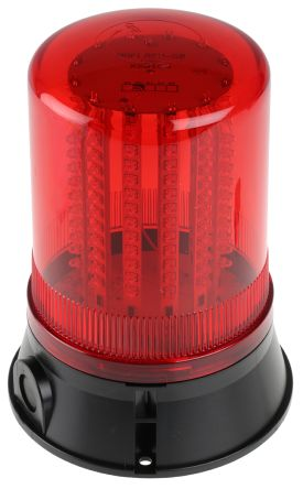 Moflash LED 401 Red LED Beacon, 24 V dc, , Multiple Effect, Surface Mount