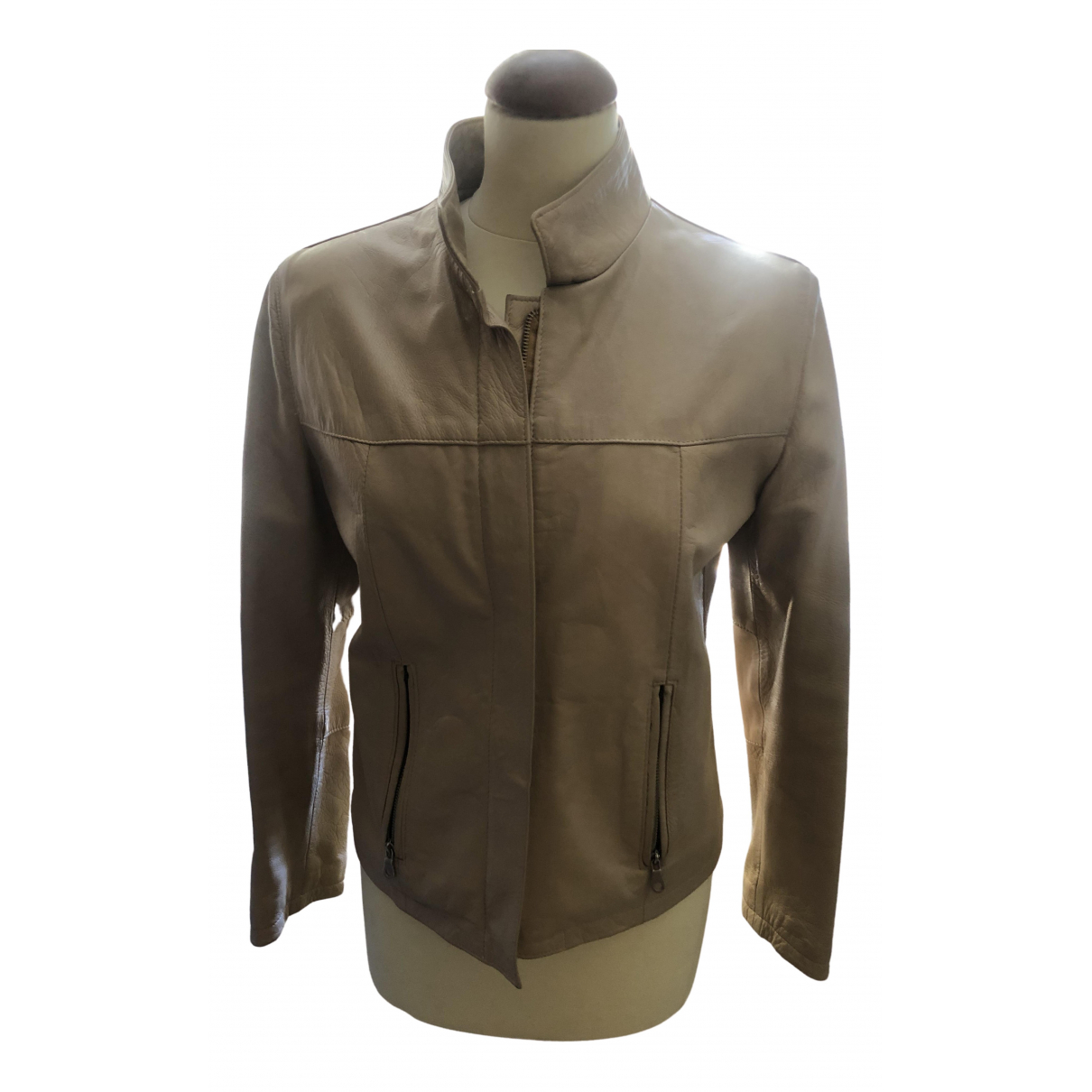 Non Signé / Unsigned \N Leather jacket for Women M International