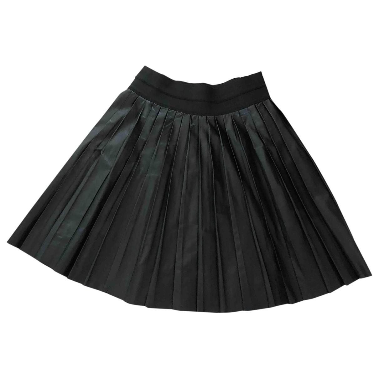 Sandro - Jupe   pour femme en cuir - noir