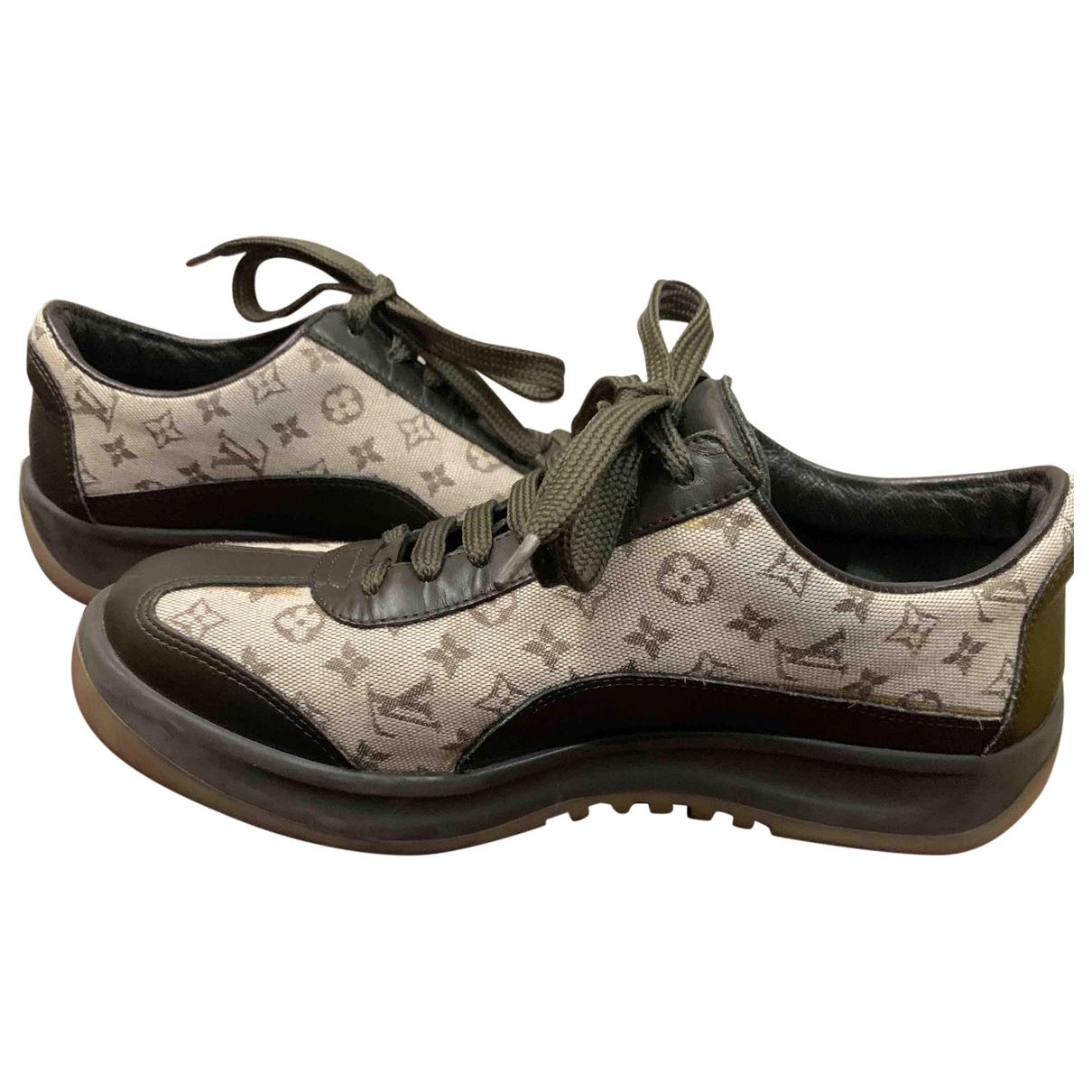 Louis Vuitton - Baskets   pour femme en toile - gris