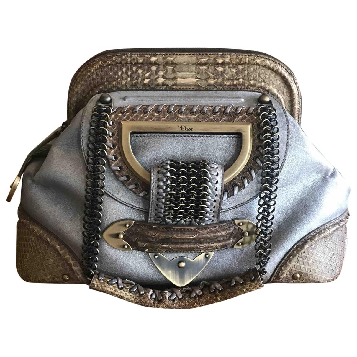 Dior \N Handtasche in  Metallic Python