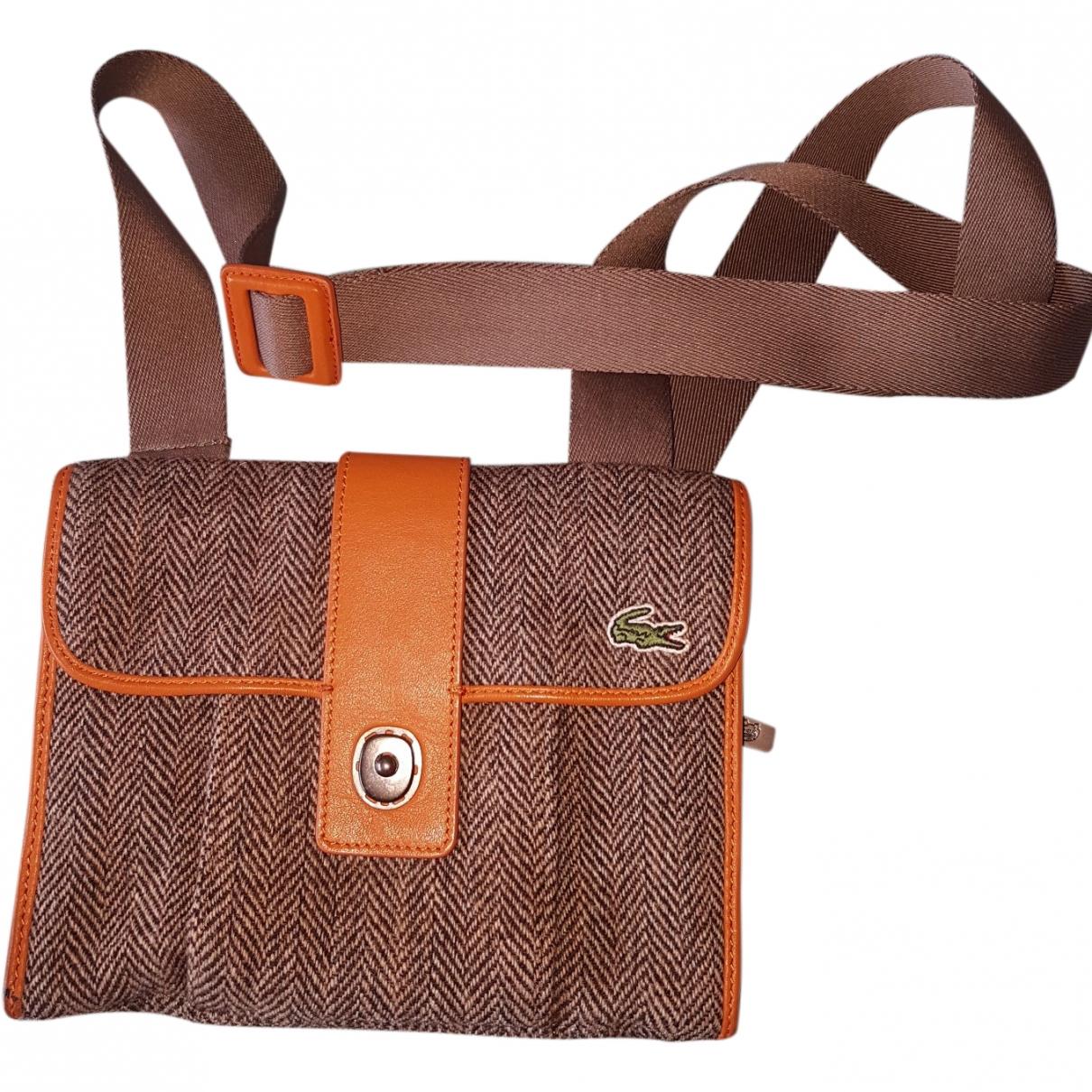 Lacoste \N Handtasche in  Braun Wolle