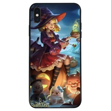 Halloween Witch Pattern iPhone Case