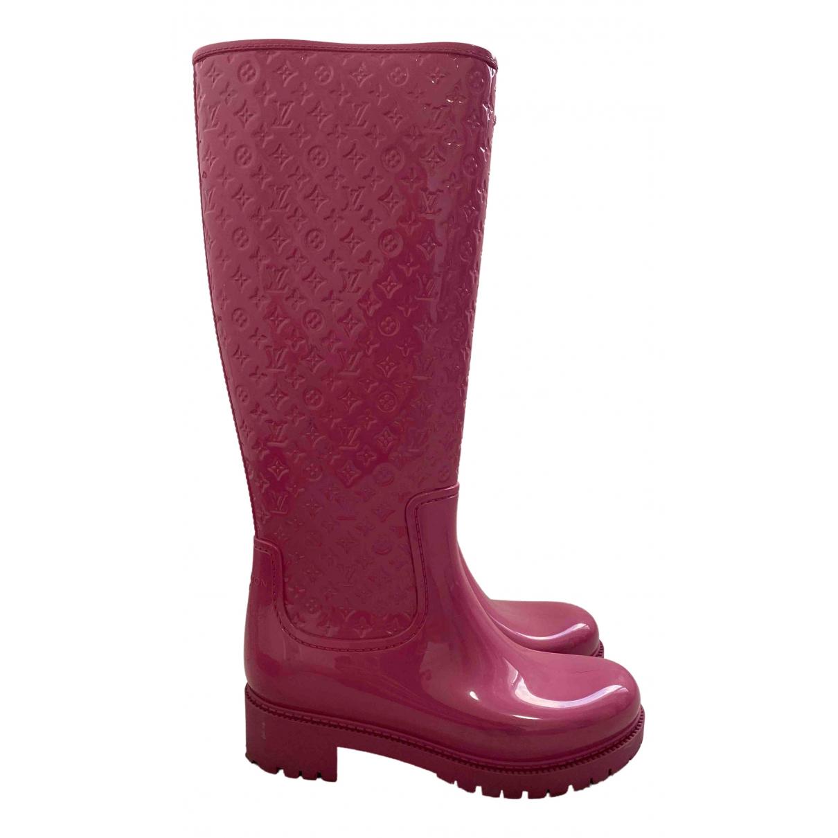 Louis Vuitton \N Stiefel in  Rosa Kunststoff