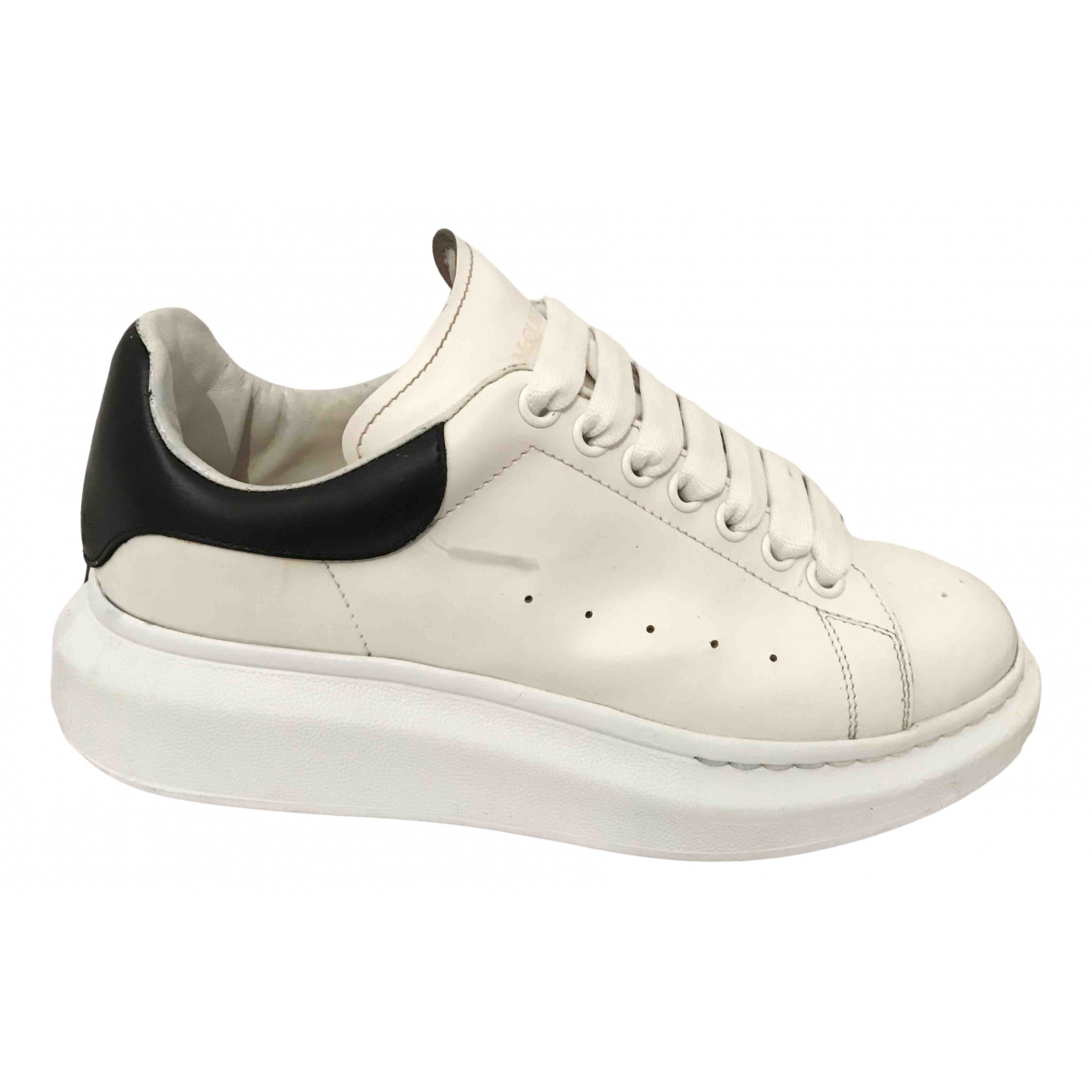 Alexander Mcqueen Oversize White Leather Trainers for Men 40 EU