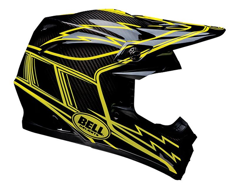 Bell Racing 2036655 Moto-9 Carbon Hurricane Helmet 57-58   MD