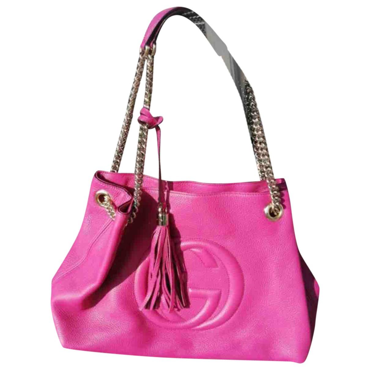 Gucci Soho Handtasche in  Rosa Leder
