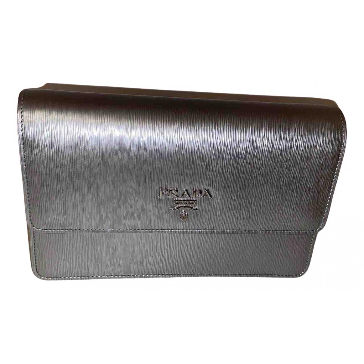 Prada - Sac a main   pour femme en cuir - metallise