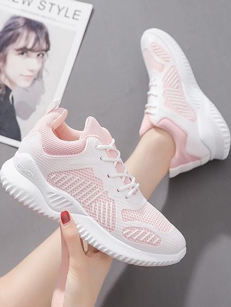 Yoins Breathable Mesh Sheer Sneakers