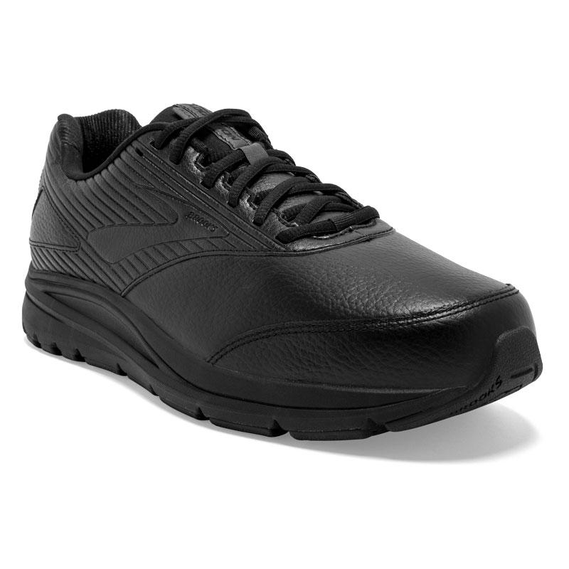Brooks Addiction Walker 2 (Men's) Black Leather Slip-Resistant 11 4E