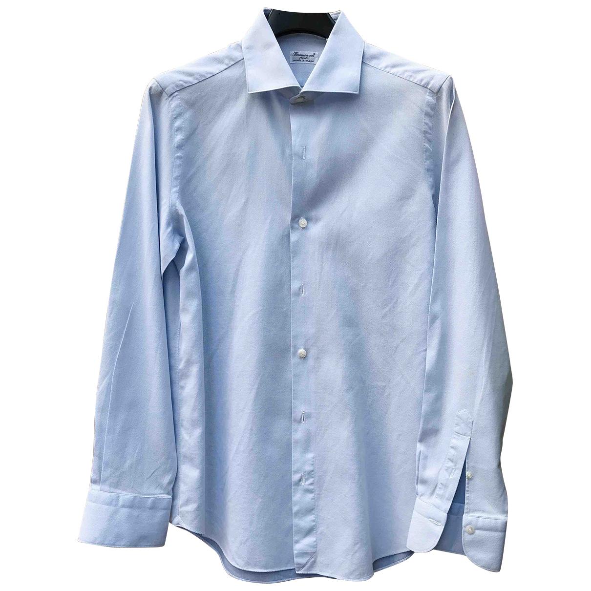 - Chemises   pour homme en coton - turquoise