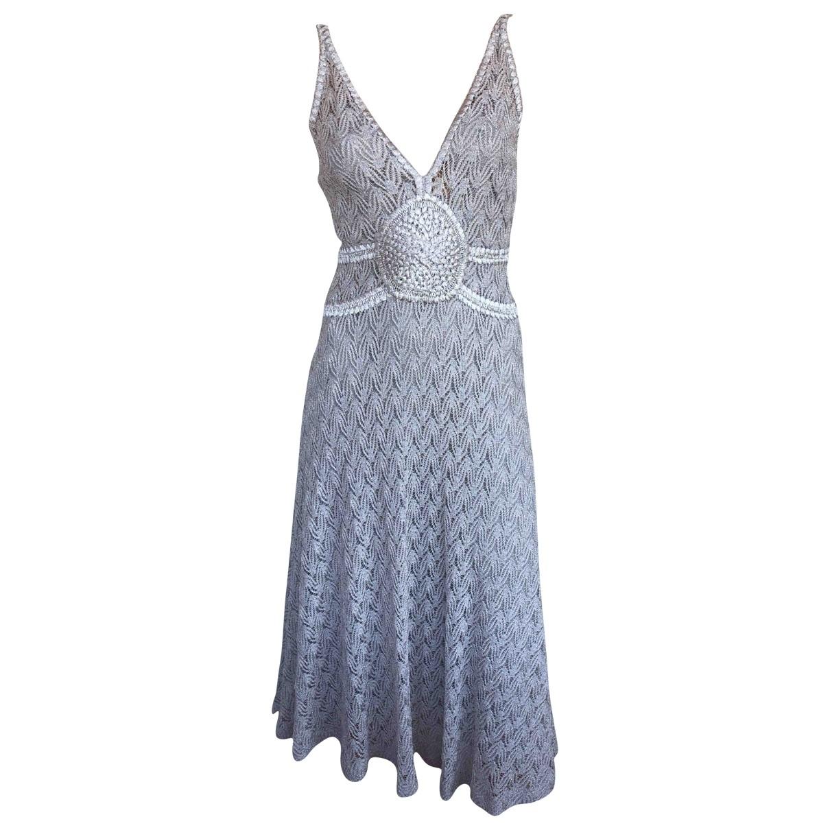 Missoni \N Grey Silk dress for Women 40 IT