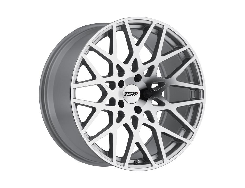 TSW Vale Wheel 18x8.5 5x120 20mm Silver w/ Mirror Cut Face