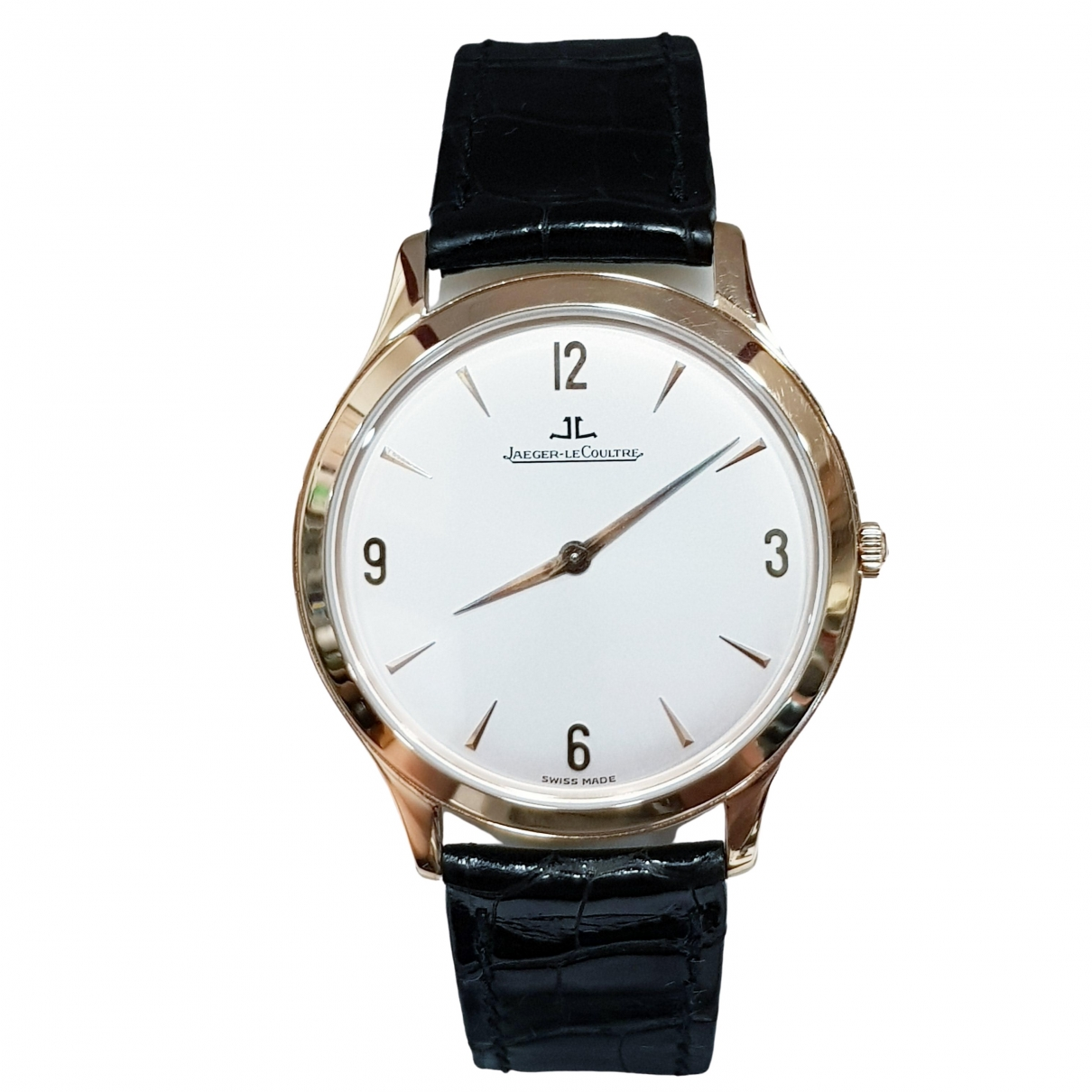 Jaeger-lecoultre \N White Pink gold watch for Men \N