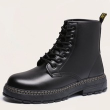 Men Lace-up Front Combat Boots