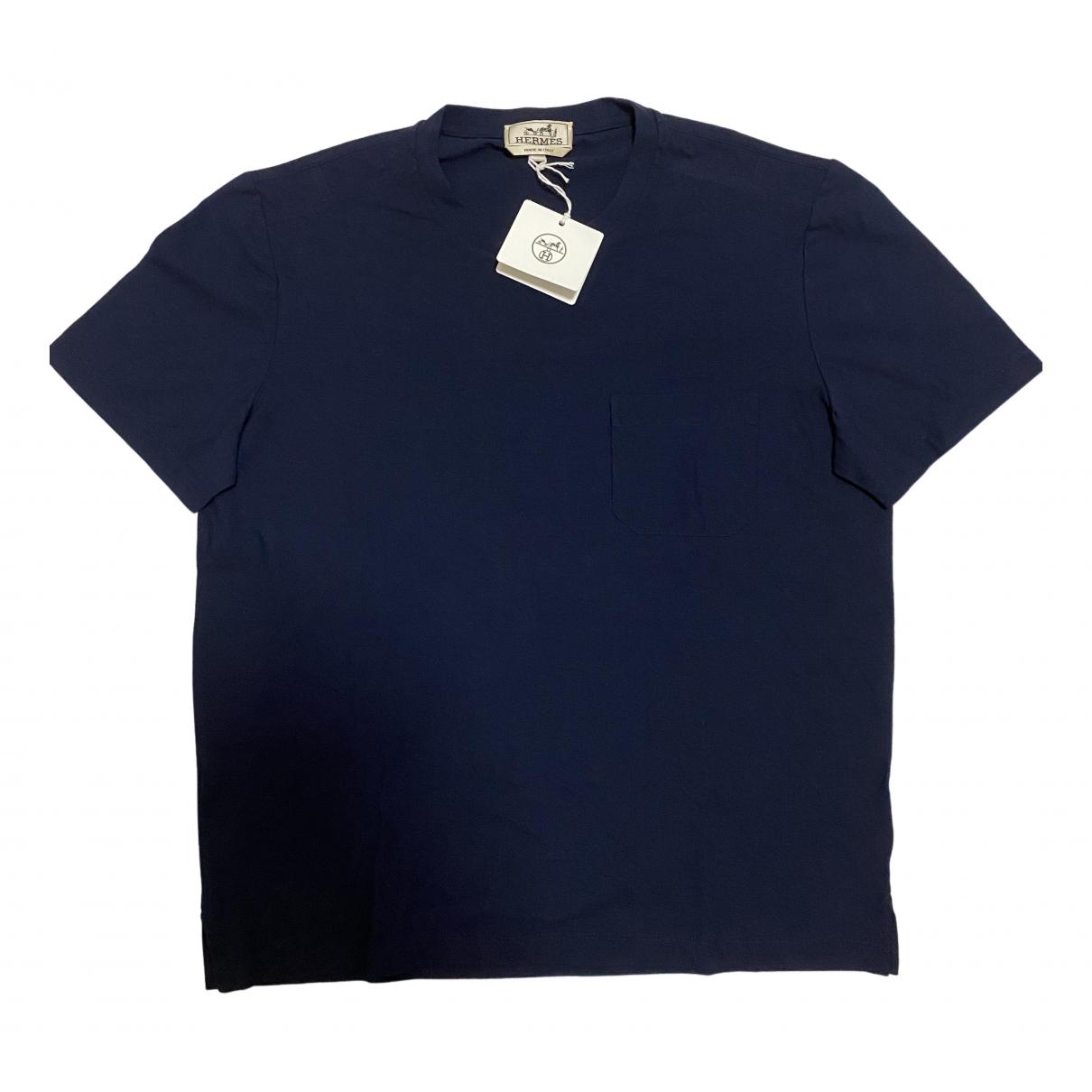 Hermès N Navy Cotton T-shirts for Men M International