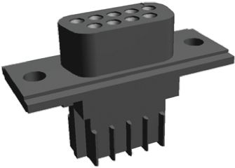 TE Connectivity , AMPLIMITE HDE-20 2.74mm Pitch 9 Way IDC D-sub Connector, Socket, Thermoplastic Shell