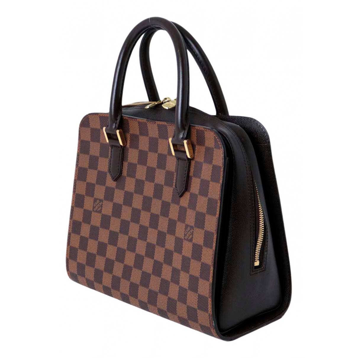 Louis Vuitton - Sac a main Triana pour femme en toile - marron