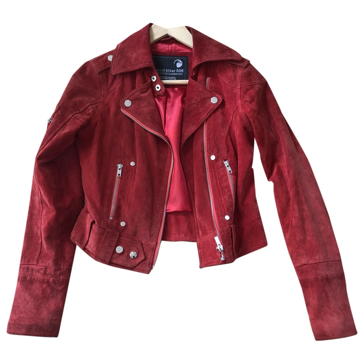 Goosecraft \N Red Suede Leather jacket for Women XS International
