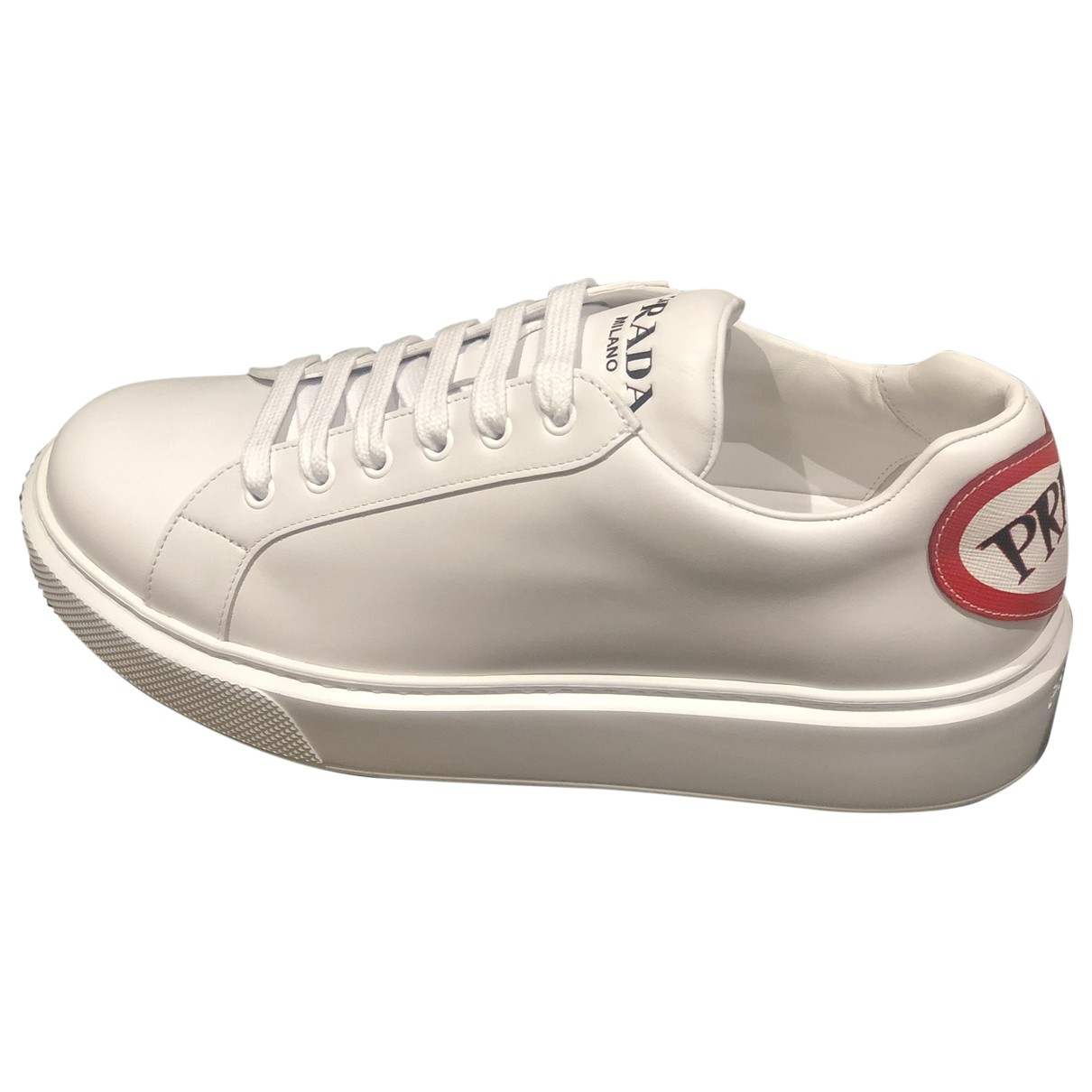 Prada \N White Leather Trainers for Men 8.5 UK
