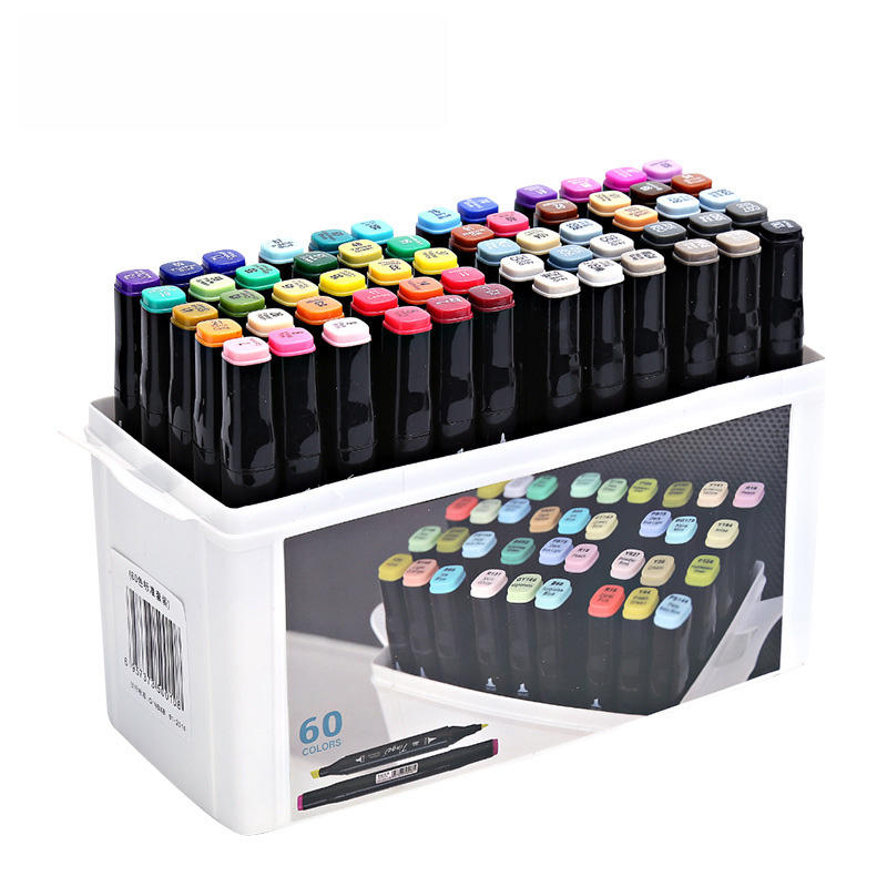 Superior Tinge Alcohol Oily Double-Headed Marker Pen 48/64 color Art Supplies Colorful Waterproof Pen Brush Pen Drawing