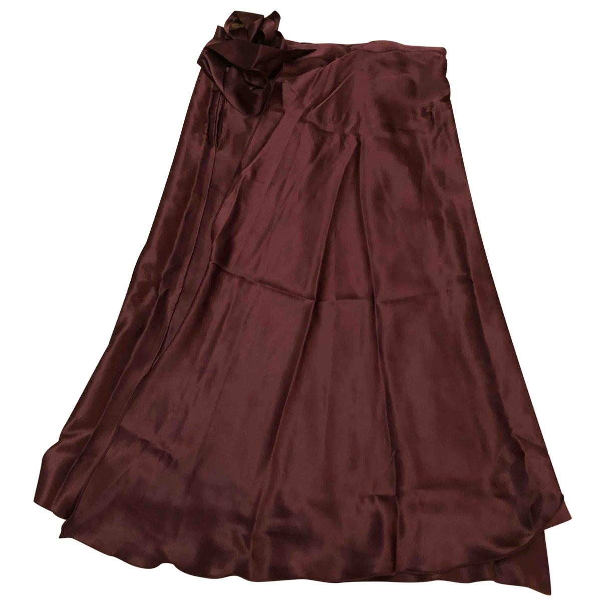 Falda midi de Seda Masscob