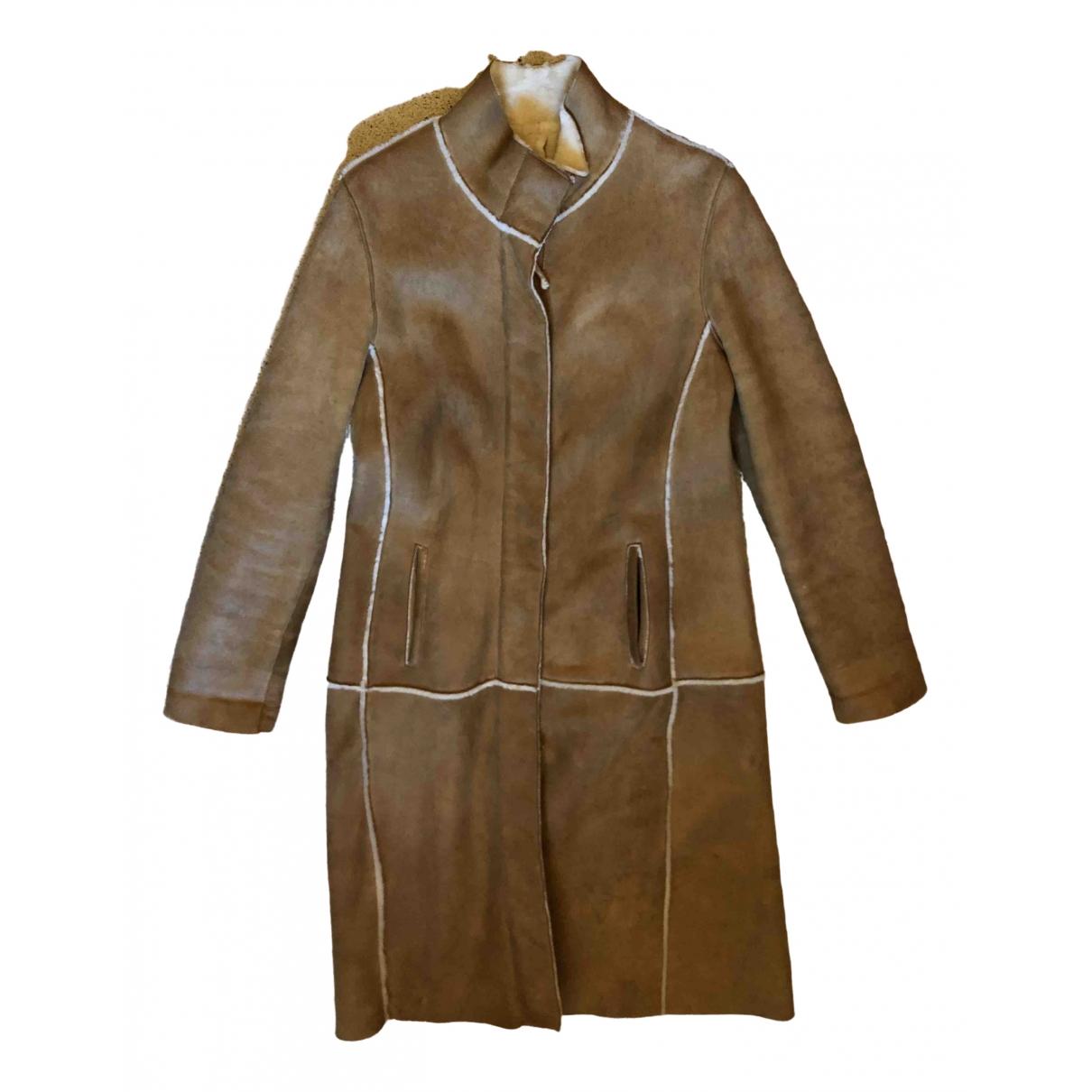 Burberry \N Brown Shearling coat for Women 12 UK