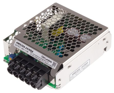 TDK-Lambda , 31W Embedded Switch Mode Power Supply SMPS, 24V dc, Open Frame