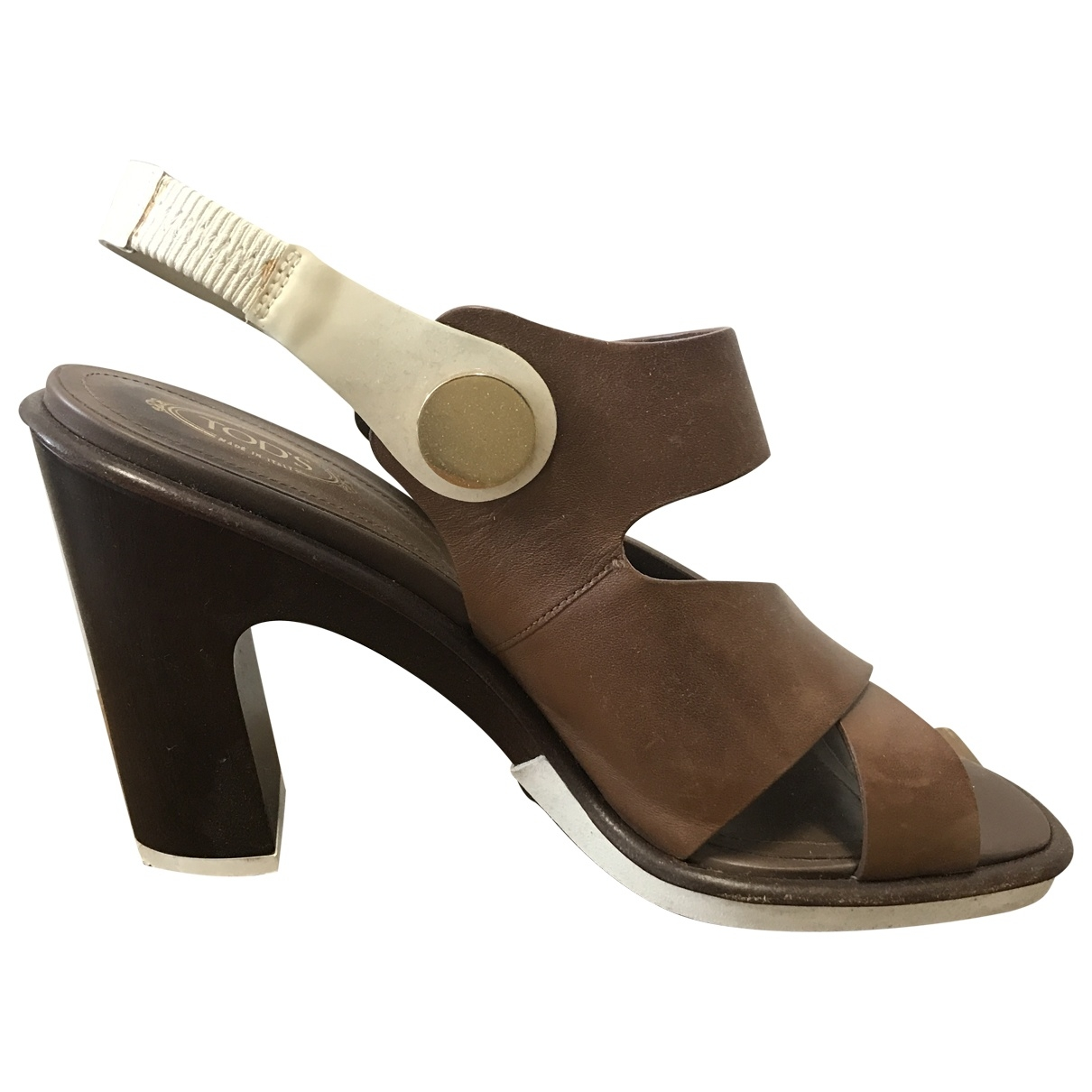 Tod's \N Brown Leather Sandals for Women 40 EU