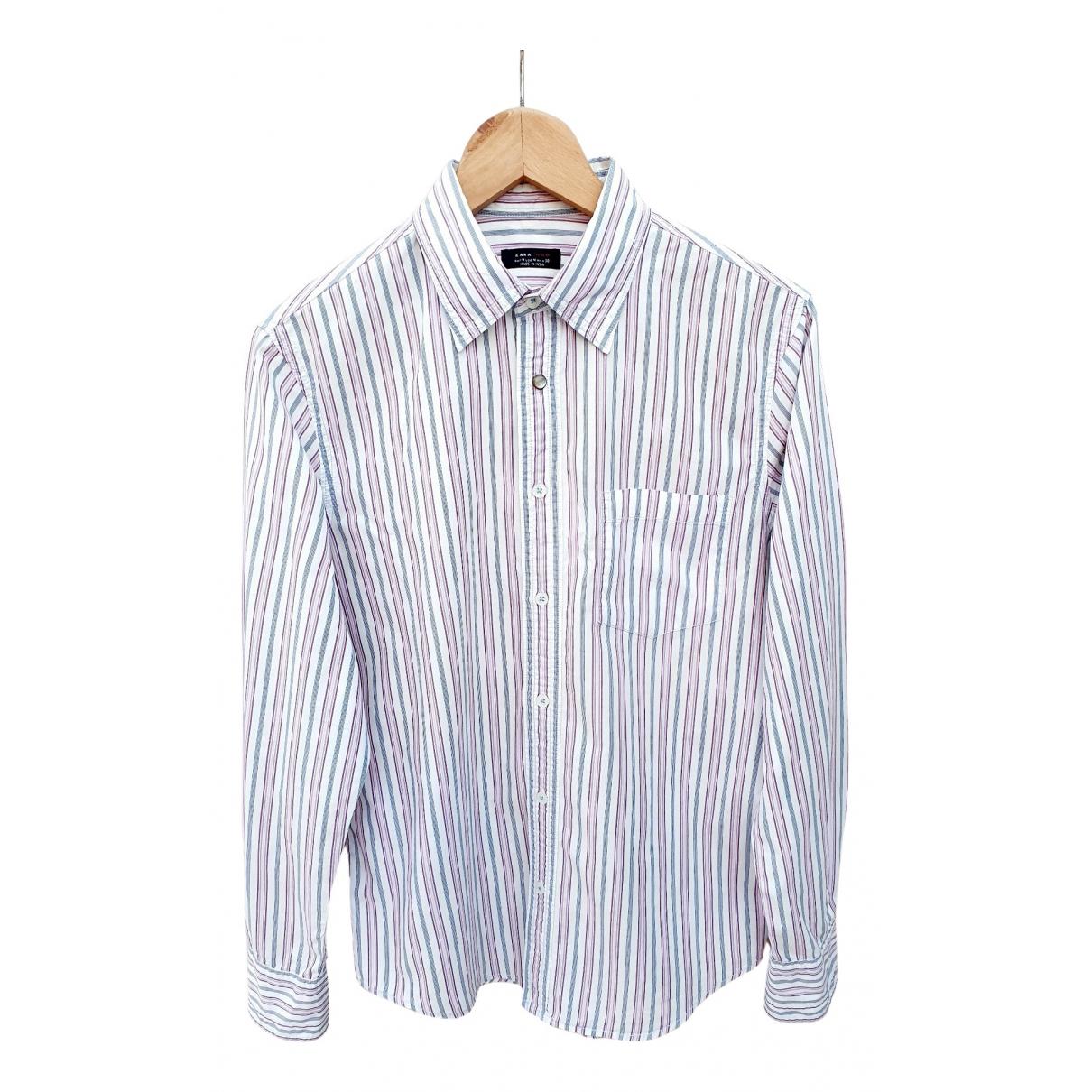 Zara \N White Cotton Shirts for Men M International