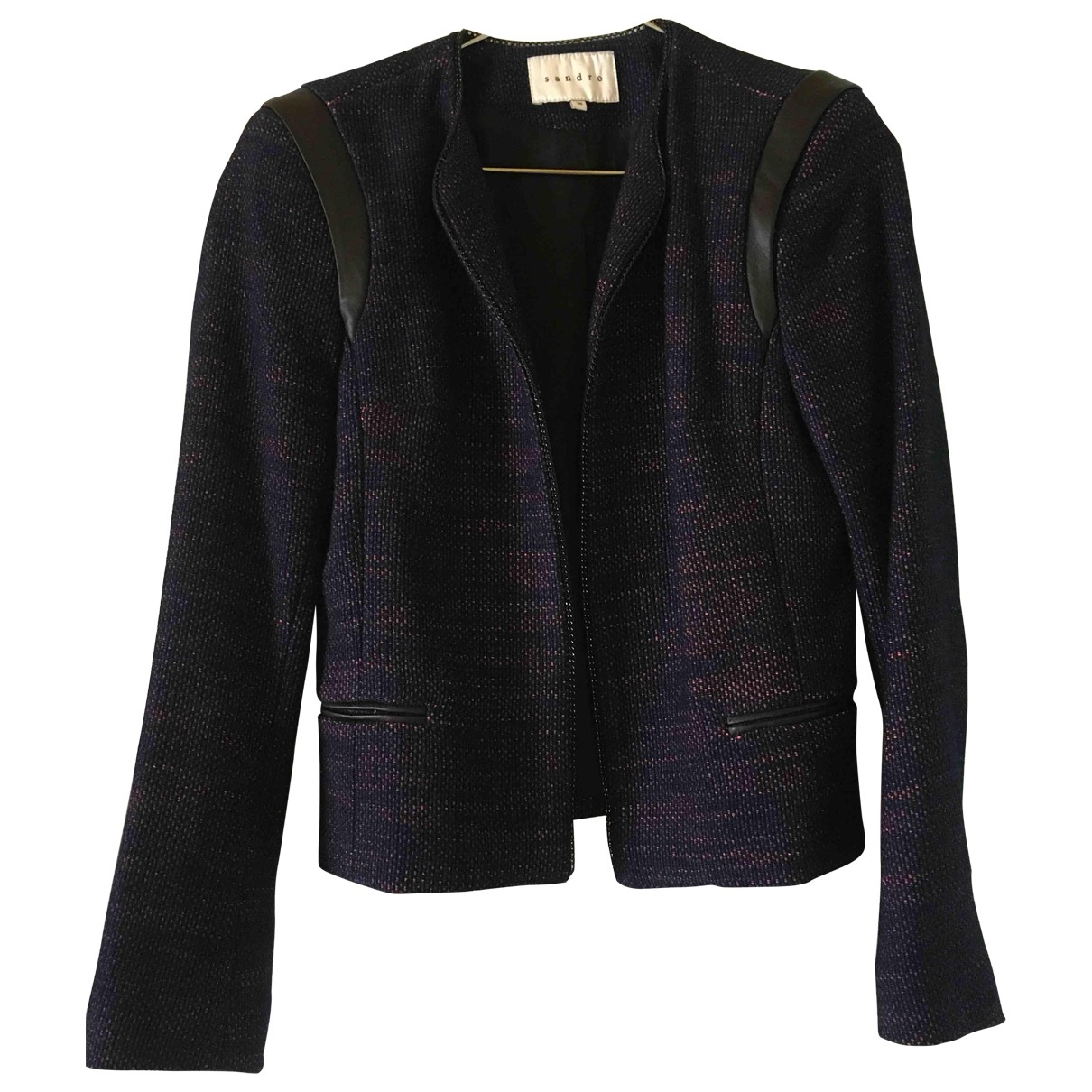 Sandro \N Blue Cotton jacket for Women 36 FR