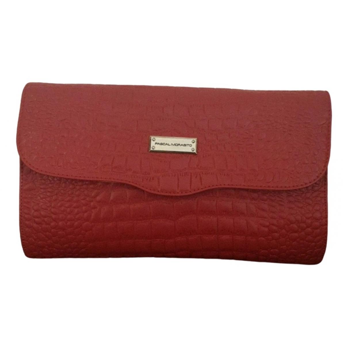 Morabito \N Clutch in  Rot Leder