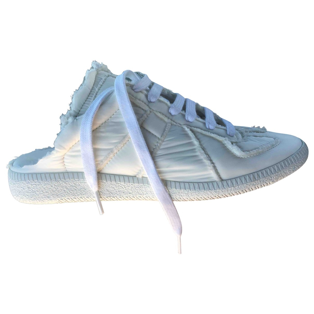 Maison Martin Margiela \N Sneakers in  Weiss Polyester