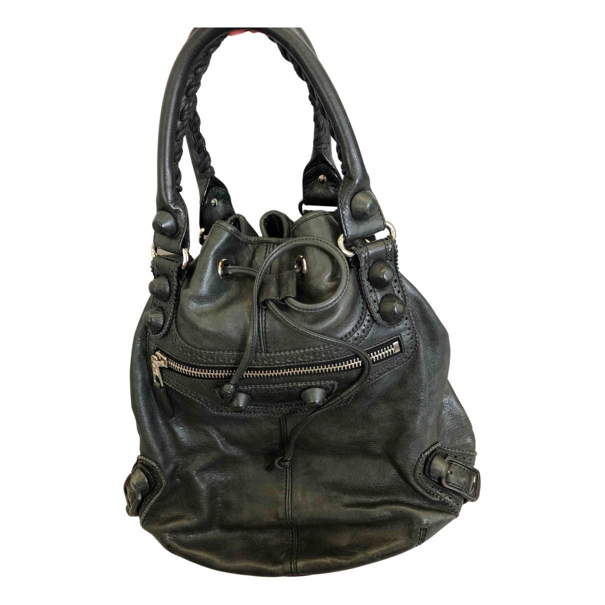 Balenciaga Pompon Anthracite Leather handbag for Women \N