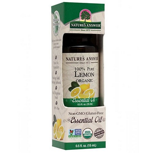 Essential Oil Organic Lemon 0.5 Oz by Nature's Answer