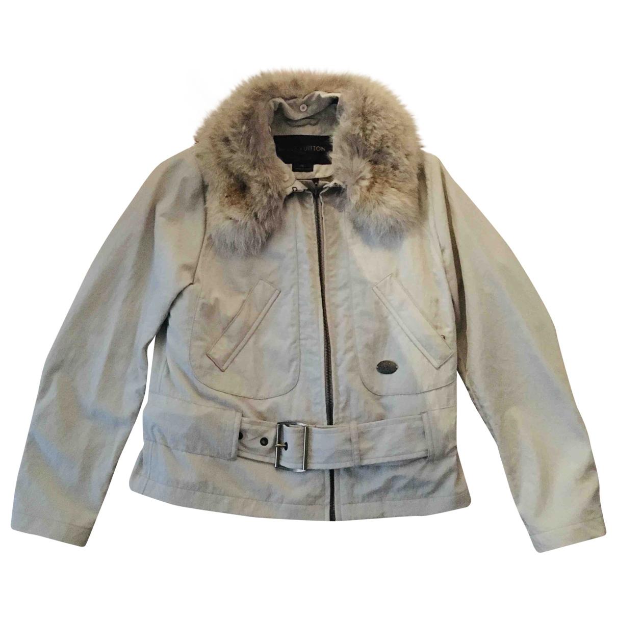 Louis Vuitton \N Beige Leather jacket for Women 36 FR