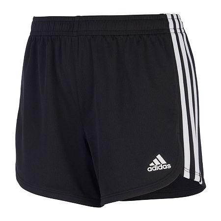 adidas Big Girls Running Short, X-large (16) , Black