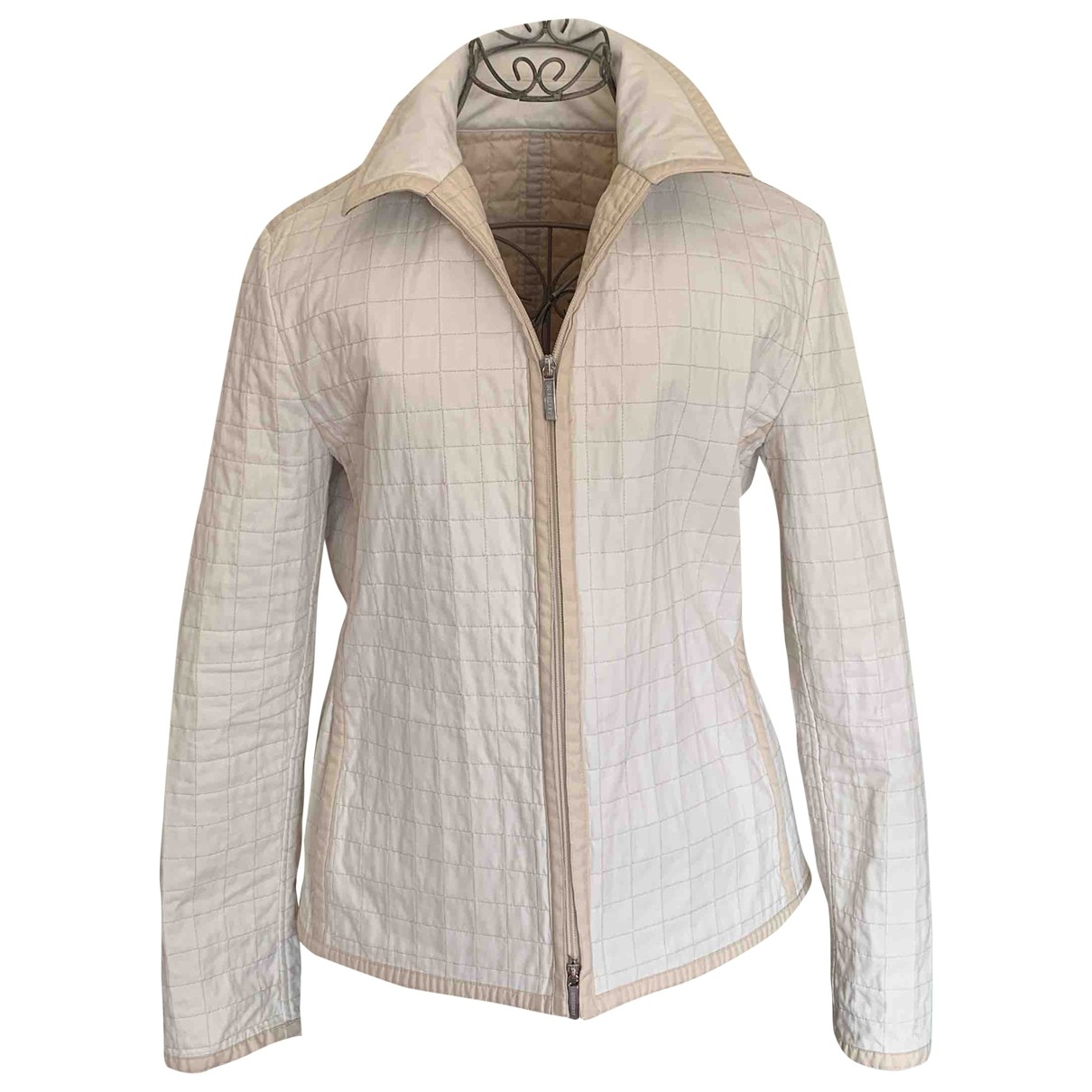 Burberry \N Jacke in  Weiss Polyester