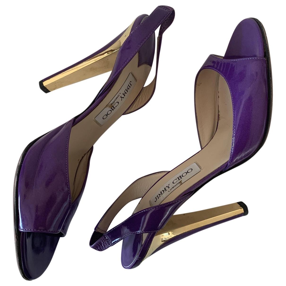 Jimmy Choo - Sandales   pour femme en cuir verni - violet