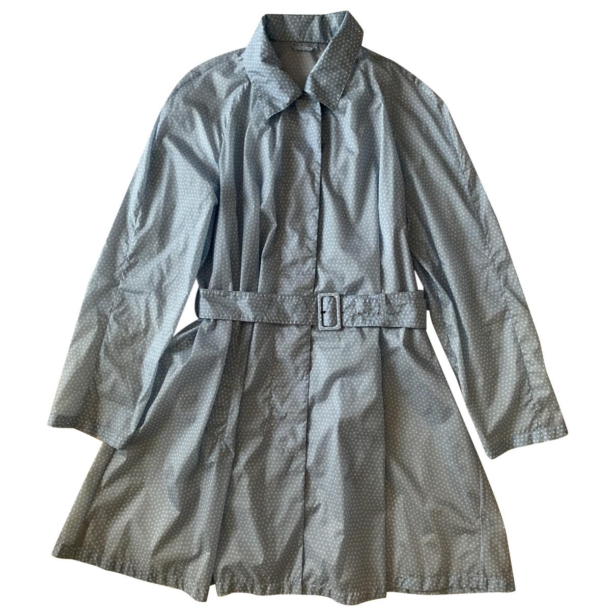 Prada \N Blue Trench coat for Women 46 IT
