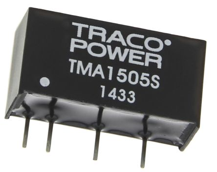 TRACOPOWER TMA 1W Isolated DC-DC Converter Through Hole, Voltage in 13.5 → 16.5 V dc, Voltage out 5V dc