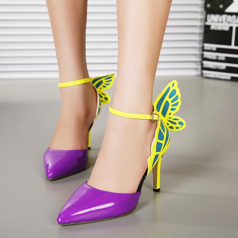 Ericdress Appliques Color Block Stiletto Heel Pumps