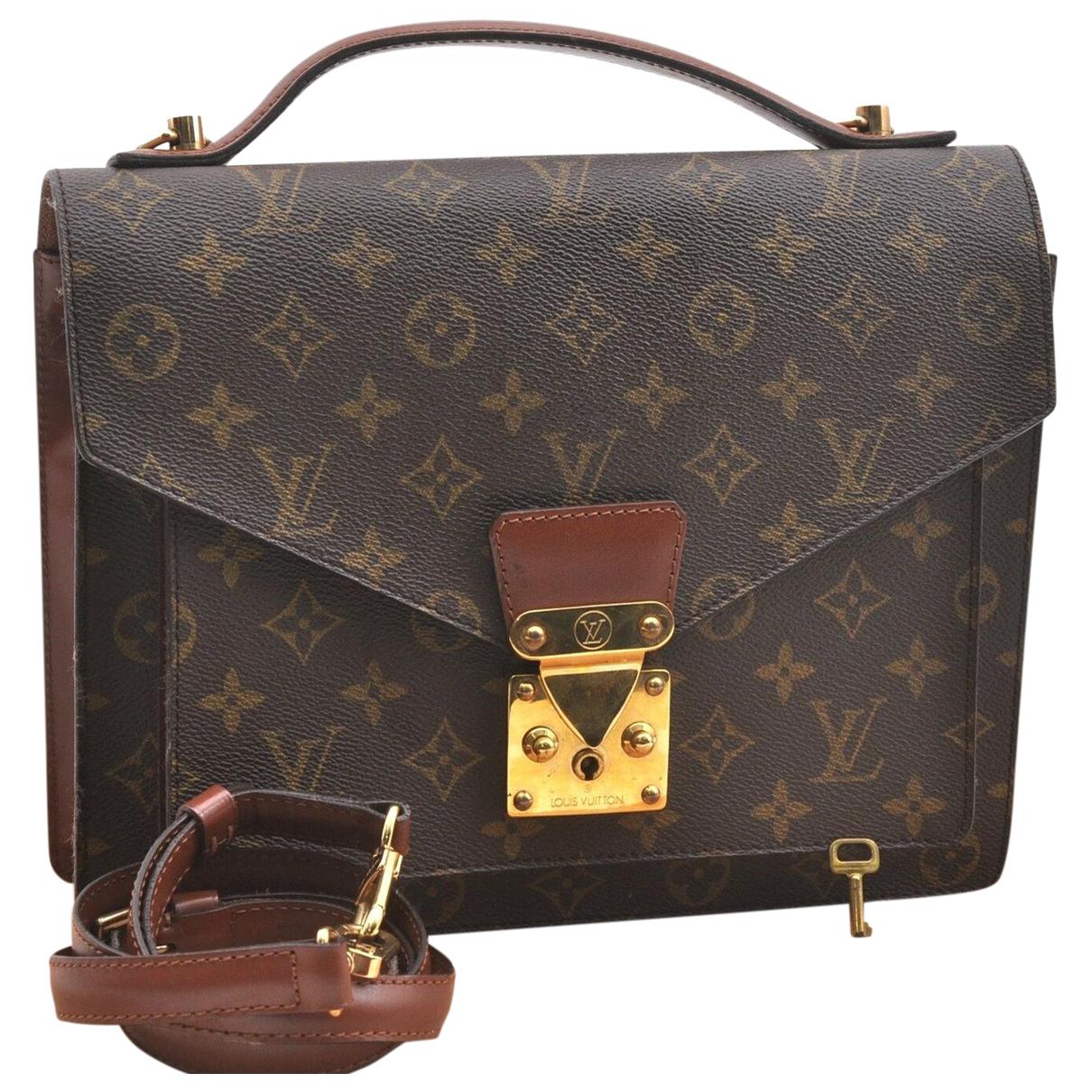Louis Vuitton Monceau Brown Cloth handbag for Women N
