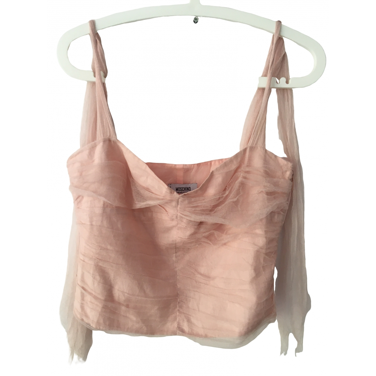 Moschino Cheap And Chic - Top   pour femme en soie - rose