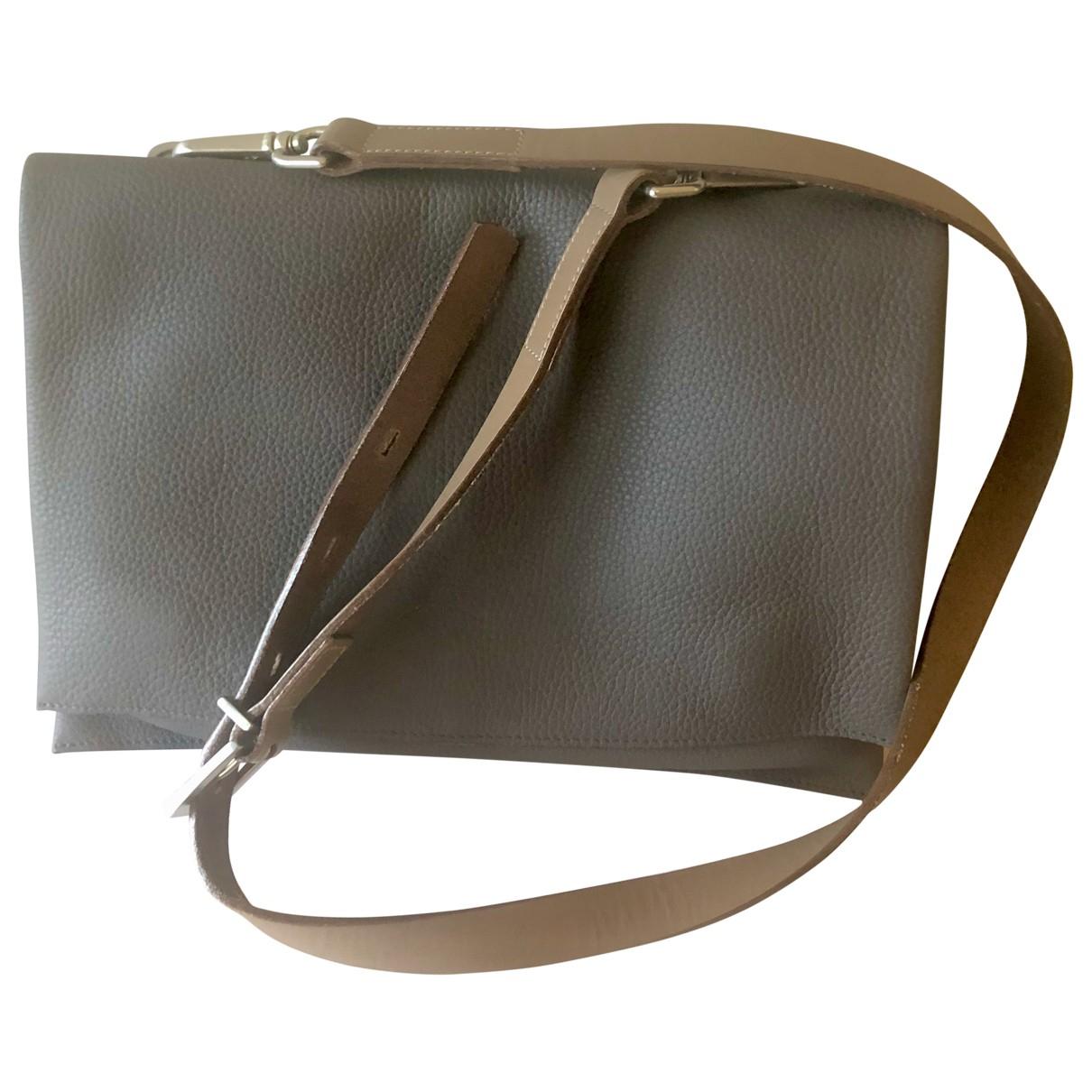 Ally Capellino \N Grey Leather handbag for Women \N
