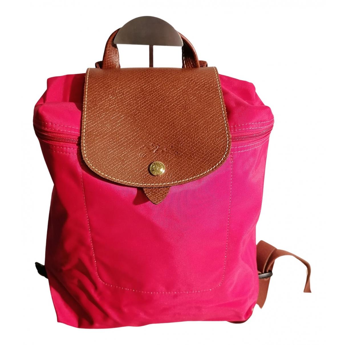 Longchamp - Sac a dos Pliage  pour femme en toile - rouge