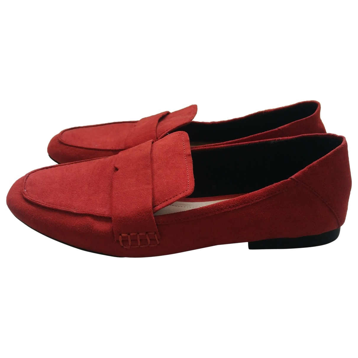 Zara \N Orange Suede Flats for Women 38 EU