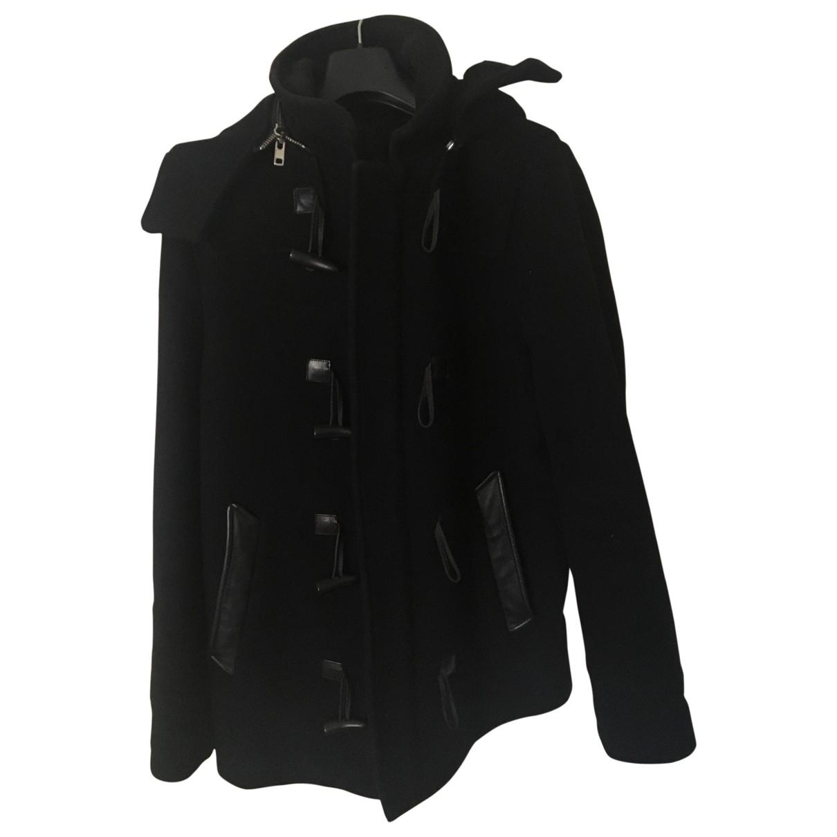 The Kooples \N Black Wool coat  for Men 48 FR